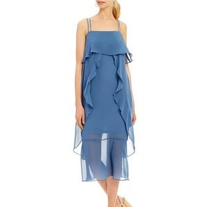 Gianni bini flowy ruffle dress